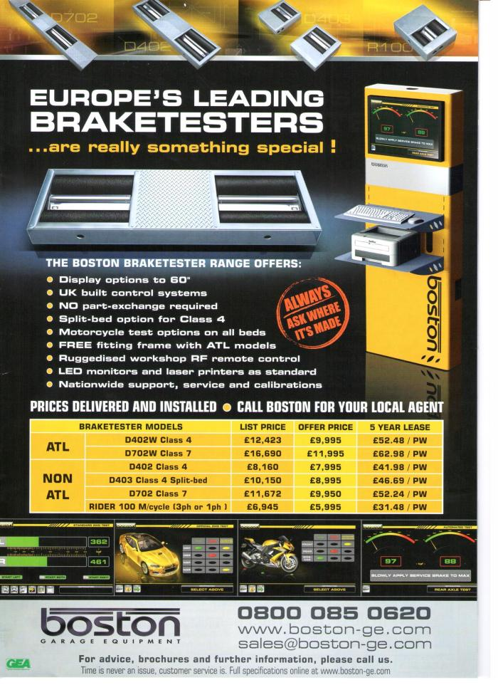 Boston Brake Tester Advert