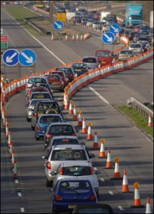 A familiar a site for UK drivers - M1 roadworks